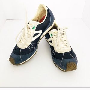 Tretorn leather & canvas sneaker
